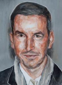 Dries Van Noten, huile sur toile, 2009, Aurélie Galois