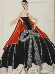 Dessin Maison Lanvin « La Cavallini & Rita », 1925. © Patrimoine Lanvin