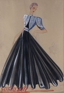 « Scintillante », robe, été 1939 Tulle, crêpe broderies de paillettes Collection Palais Galliera © Katerina Jebb, 2014