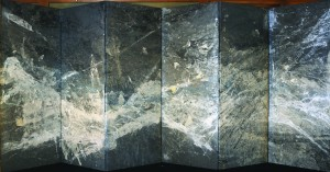 Kyôko Ibe,  Hogosho 2009 Papier ancien recyclé 178 x 452 cm